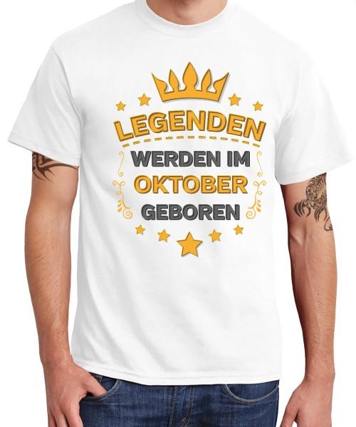 -- Legenden werden im Oktober geboren -- Boys T-Shirt