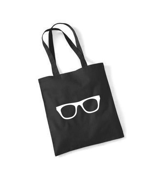 -- Brille -- Baumwolltasche