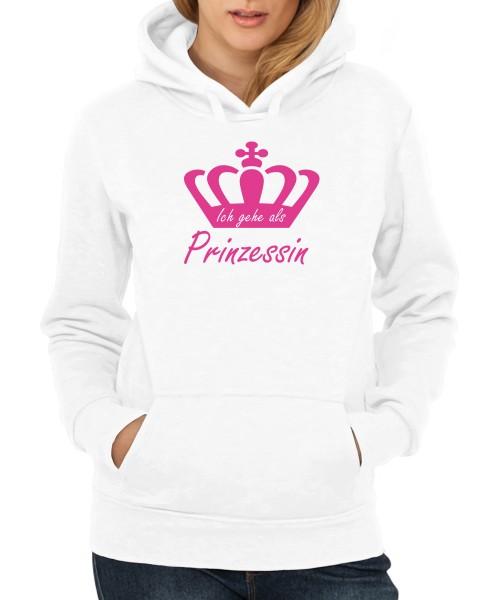 -- Ich gehe als Prinzessin -- Girls Kapuzenpullover, Motiv Pink