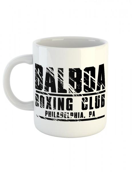 clothinx Kaffeetasse mit Aufdruck Balboa Boxing Club
