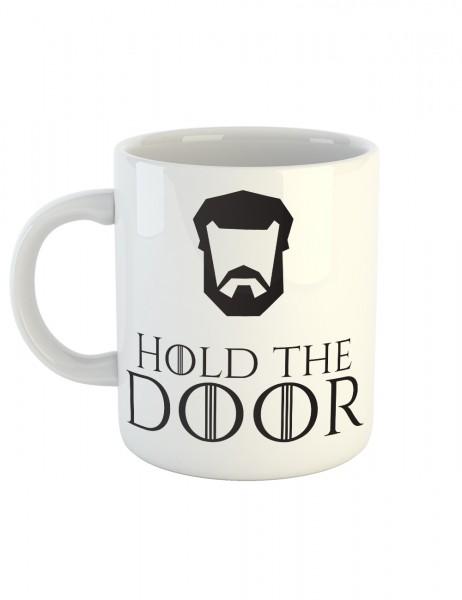 clothinx Kaffeetasse mit Aufdruck Hold The Door
