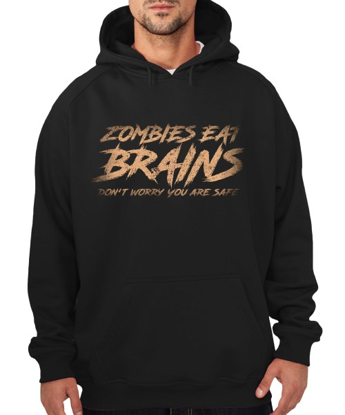 -- Zombies Eat Brains Don't Worry you are safe -- Boys Kapuzenpullover