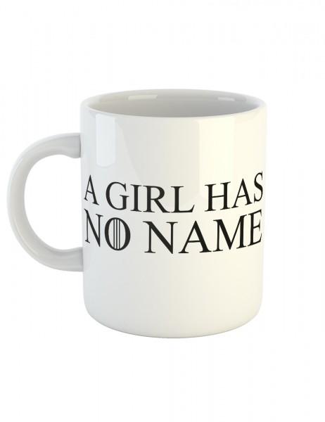 clothinx Kaffeetasse mit Aufdruck A Girl Has No Name