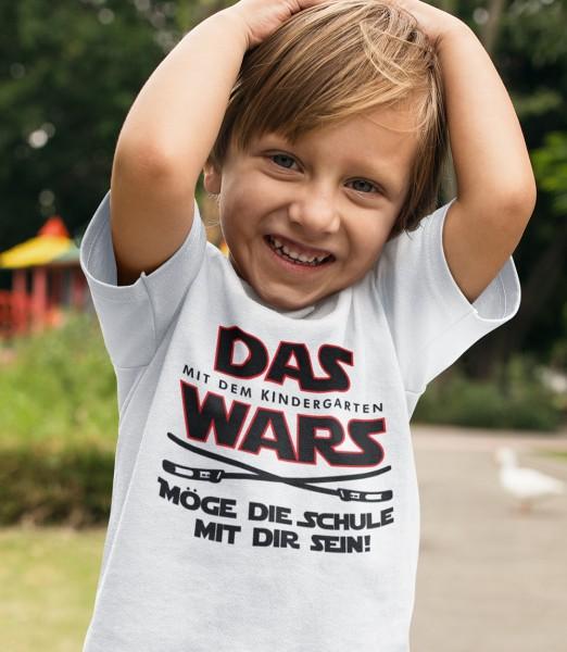 Geschenk Zur Einschulung Das Wars Möge Die Schule Mit Dir Sein Schulkind Kinder T-Shirt Junge