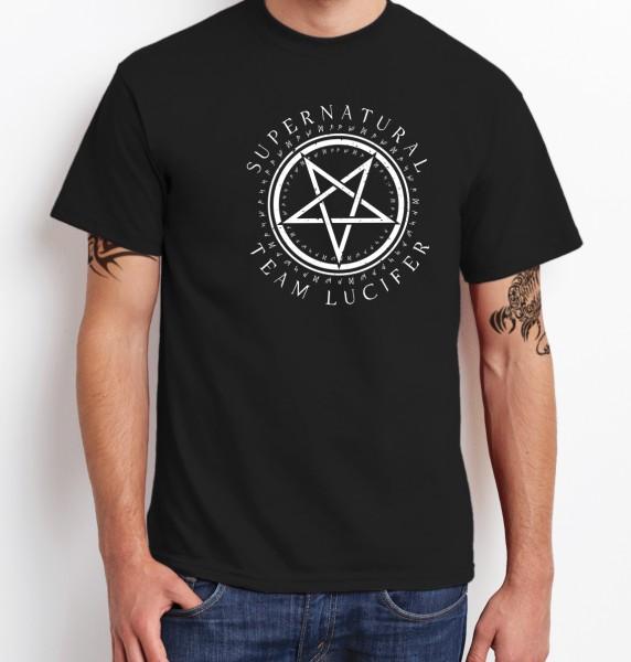 -- Team Lucifer King of Hell -- Boys T-Shirt