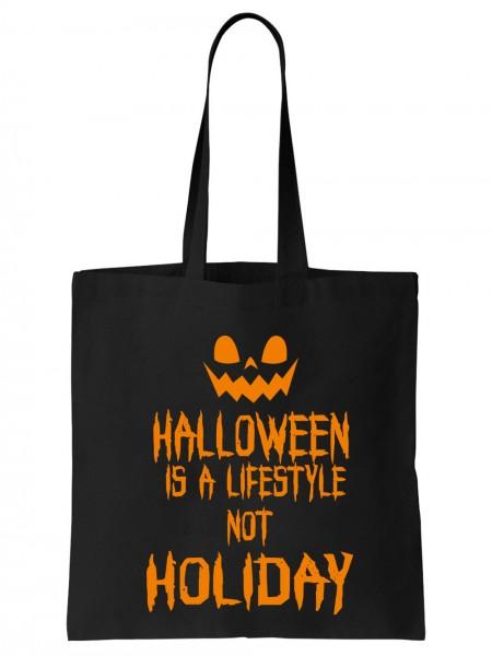 clothinx Einkaufstasche Halloween Is A Lifestyle Not A Holiday