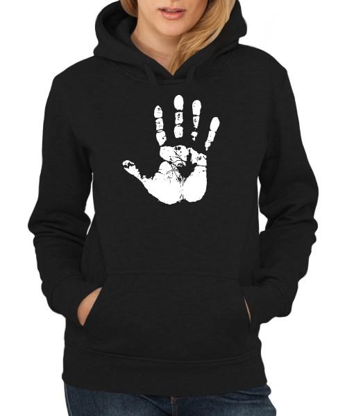 -- Weiße Hand -- Girls Kapuzenpullover