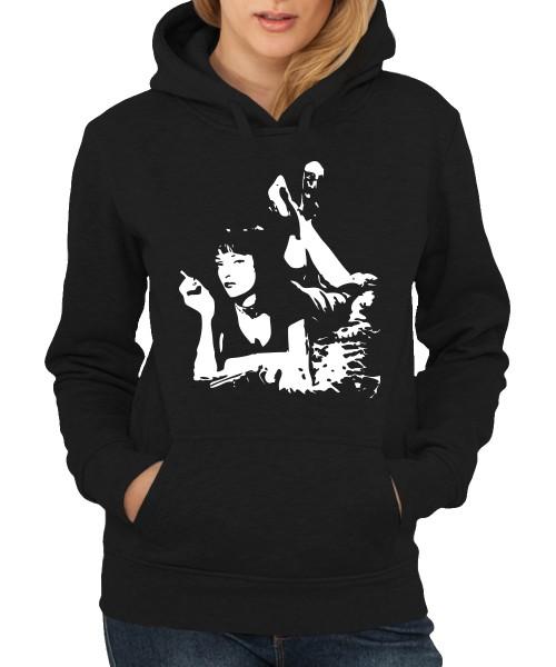 -- Pulp Fiction - Uma -- Girls Kapuzenpullover