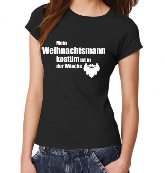 ::: MEIN WEIHNACHTSMANNKOSTÜM IST IN DER WÄSCHE ::: T-Shirt Damen