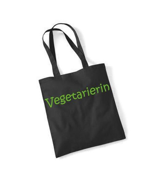 -- Vegetarierin -- Baumwolltasche