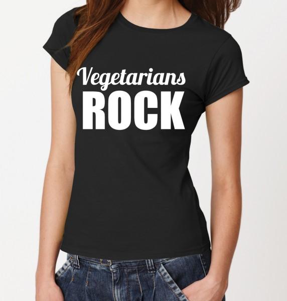 ::: VEGETARIANS ROCK ::: Damen T-Shirt