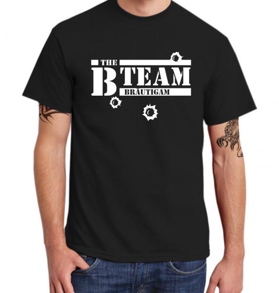 ::: B TEAM MIT SCHUSS ::: T-Shirt Junggesellenabschied Kombi ::: Männer