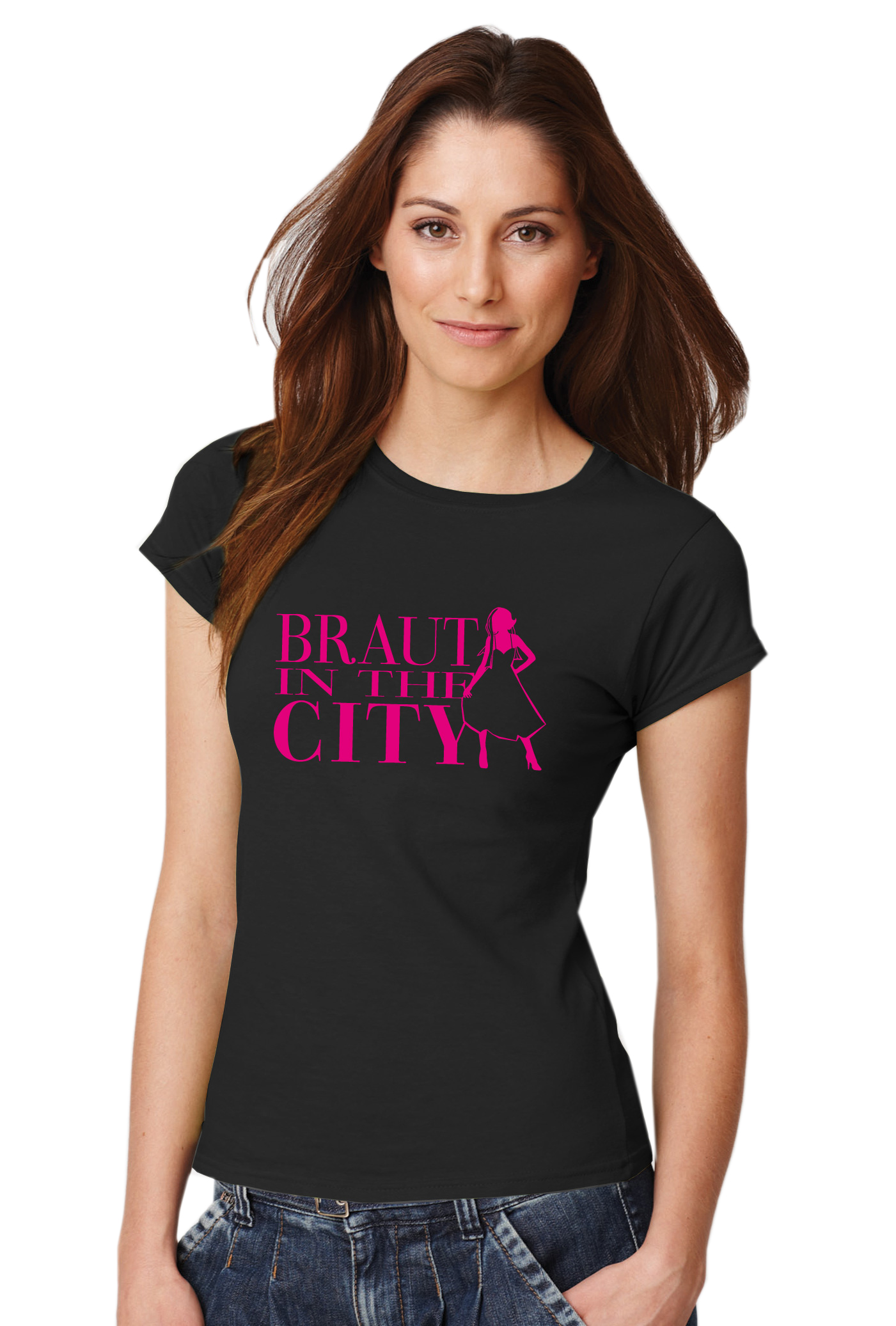 braut in the city t shirt junggesellenabschied damen clothinx. Black Bedroom Furniture Sets. Home Design Ideas