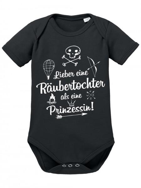 clothinx Baby Body Unisex Lieber eine Räubertochter als eine Prinzessin