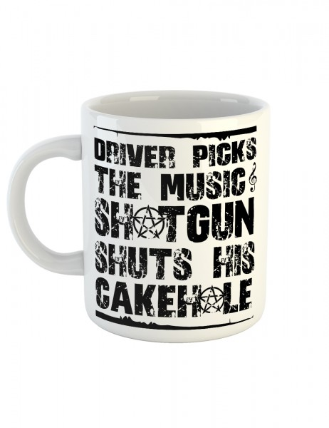 clothinx Kaffeetasse mit Aufdruck Driver Picks The Music Shotgun Shuts His Cakehole