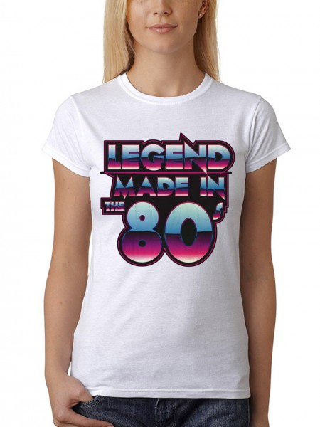 clothinx Damen T-Shirt Legend Made in the 80s