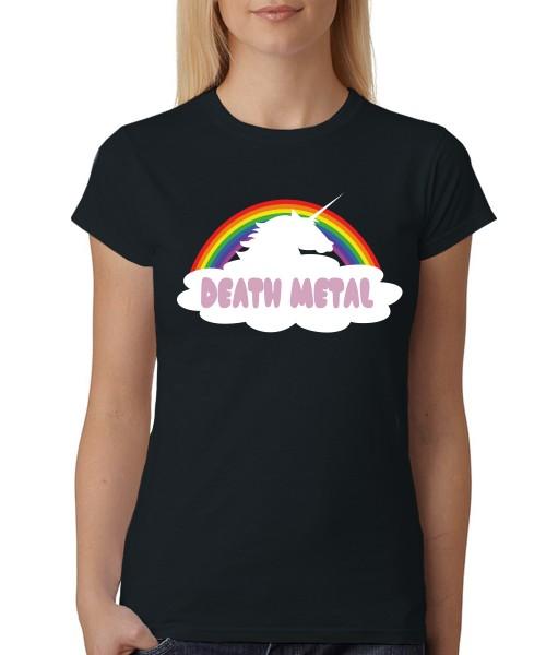 -- Death Metal Rainbow Unicorn -- Girls T-Shirt