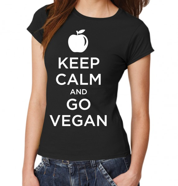 ::: KEEP CALM AND GO VEGAN ::: Damen T-Shirt