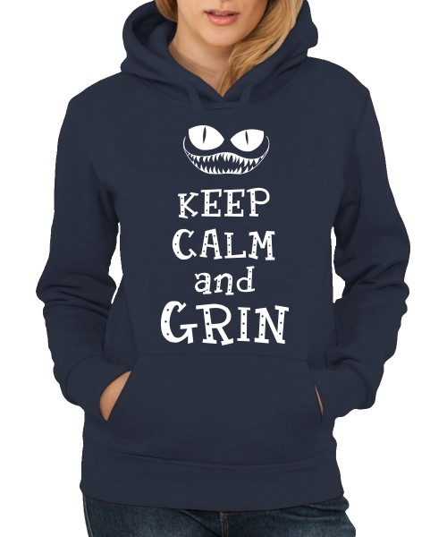 -- Keep Calm and Grin -- Girls Kapuzenpullover