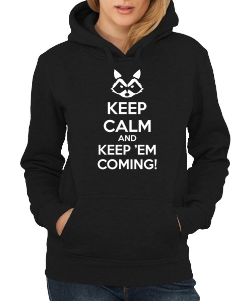 -- Keep calm and keep'em coming! -- Girls Kapuzenpullover