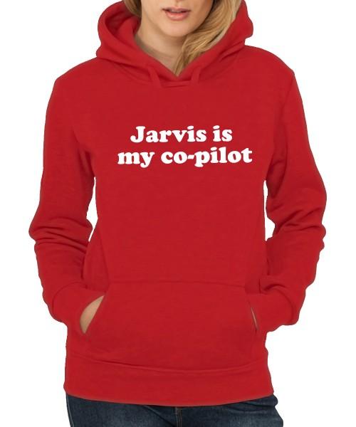 -- Jarvis is my Co-Pilot -- Girls Kapuzenpullover