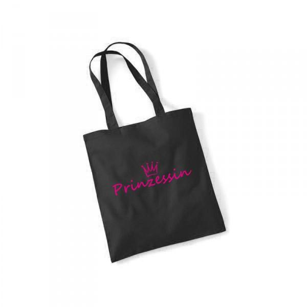 -- Prinzessin -- Pinker Druck Baumwolltasche
