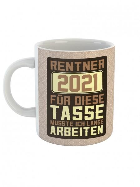 clothinx Rentner 2021 Tasse mit Spruch ideal Für den Renteneintritt, Pension Und Rente