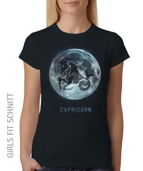 -- Sternzeichen Steinbock -- Girls T-Shirt auch im Unisex Schnitt