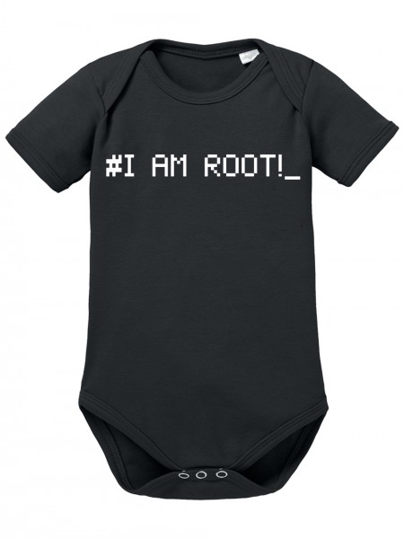 clothinx Baby Body Unisex Programmierer I am Root