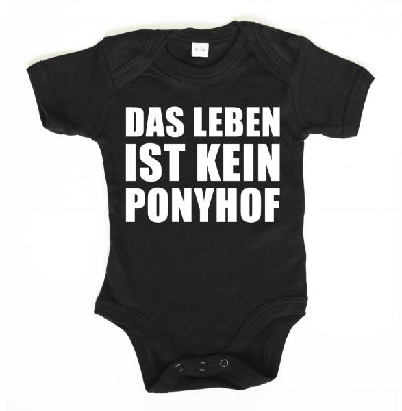 ::: DAS LEBEN IST KEIN PONYHOF ::: Grafikdesign Body made with Love ::: Baby Body Jungen