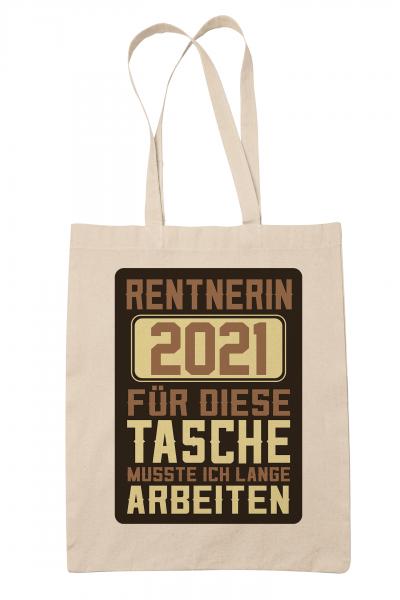 clothinx Rentnerin 2021 Stoff-Tasche mit Spruch ideal als Geschenk für Die Verabschiedung Pension Un