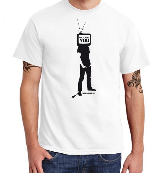 ::: WATCHING YOU ::: Grafikdesign Shirt made with Love ::: Herren