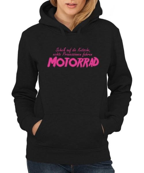 -- Scheiß auf die Kutsche, echte Prinzessinnen fahren Motorrad -- Girls Kapuzenpullover, Motiv Pink