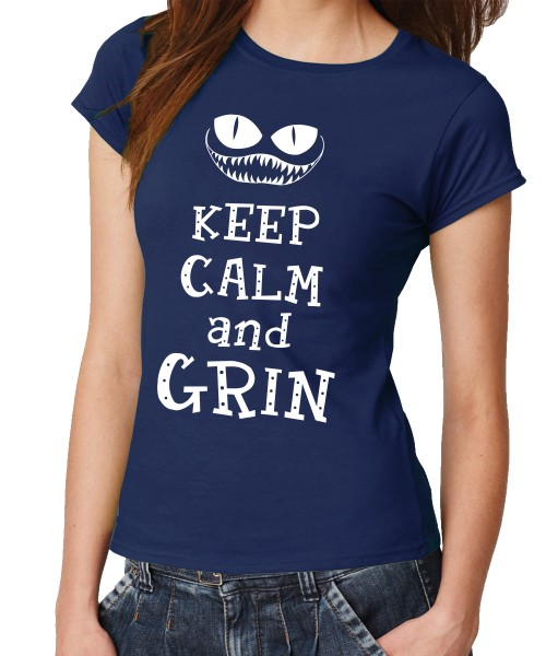 -- Keep Calm and Grin -- Girls T-Shirt