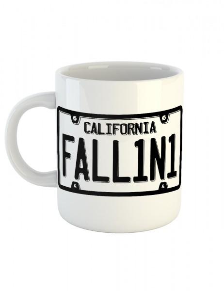 clothinx Kaffeetasse mit Aufdruck Lucifer License Plate FALL1N1