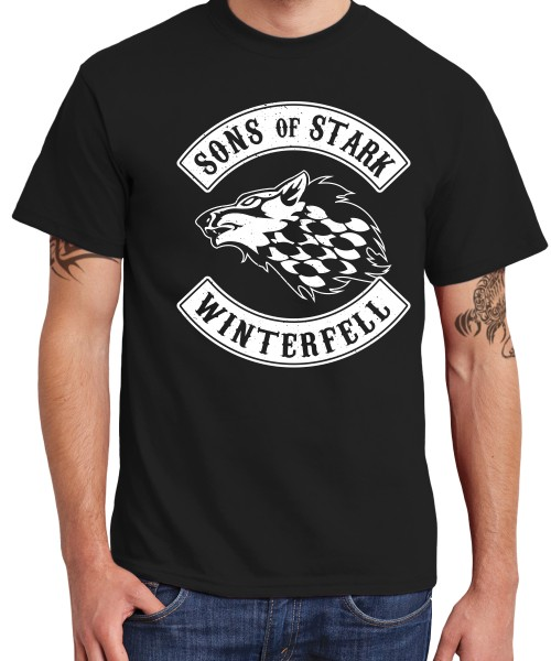 -- GoT Sons of Stark -- Boys T-Shirt