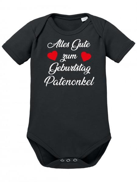 Clothinx Alles gute zum Geburtstag, Patenonkel Baby Body Bio Schwarz Gr. 50-56