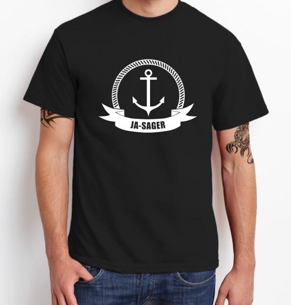823c63c57338f6 JA-SAGER · ANKER     T-Shirt Junggesellenabschied     Herren