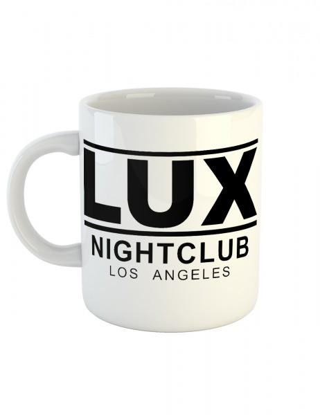 clothinx Kaffeetasse mit Aufdruck Lucifer LUX Club