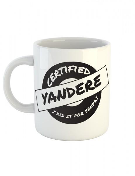 clothinx Kaffeetasse mit Aufdruck Certified Yandere