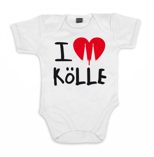 ::: I LOVE KÖLLE ::: Baby Body für Mädchen & Jungen