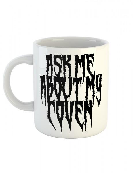 clothinx Kaffeetasse mit Aufdruck Ask Me About My Coven
