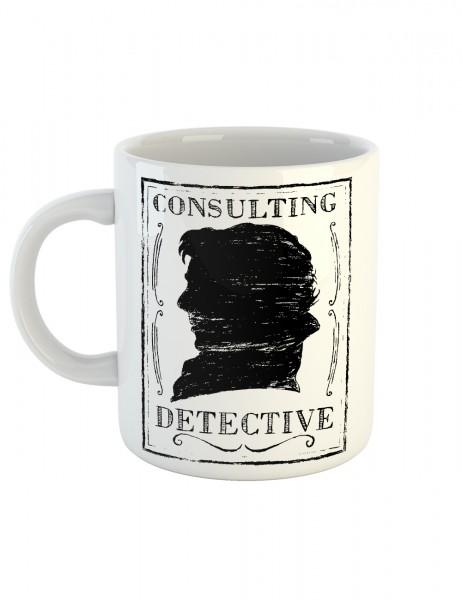 clothinx Kaffeetasse mit Aufdruck Consulting Detective