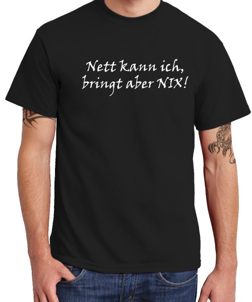 -- Nett kann ich, ... -- Boys T-Shirt