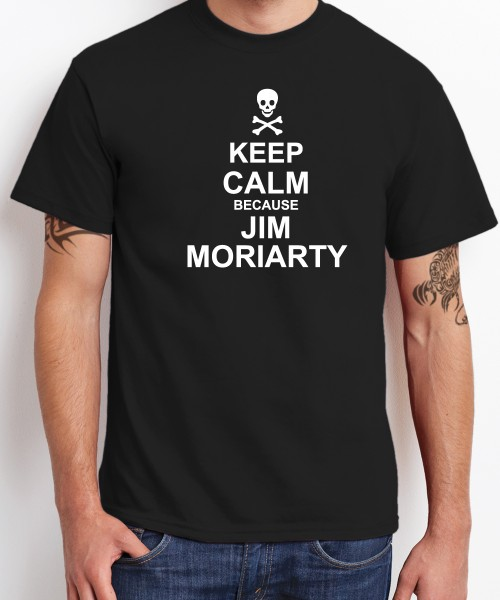 -- Keep Calm because Jim Moriarty -- Boys T-Shirt