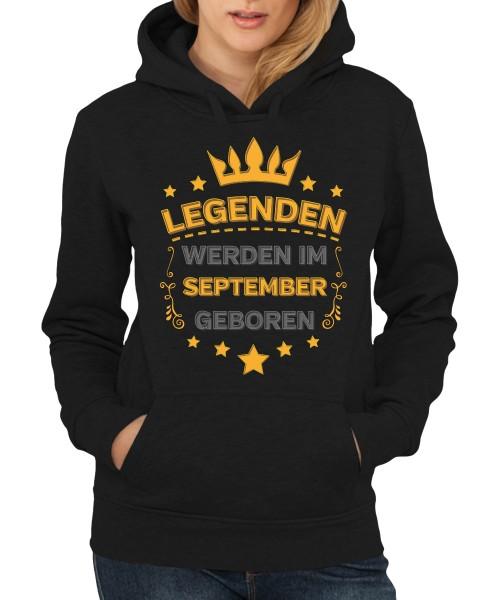 -- Legenden werden im September geboren -- Girls Kapuzenpullover