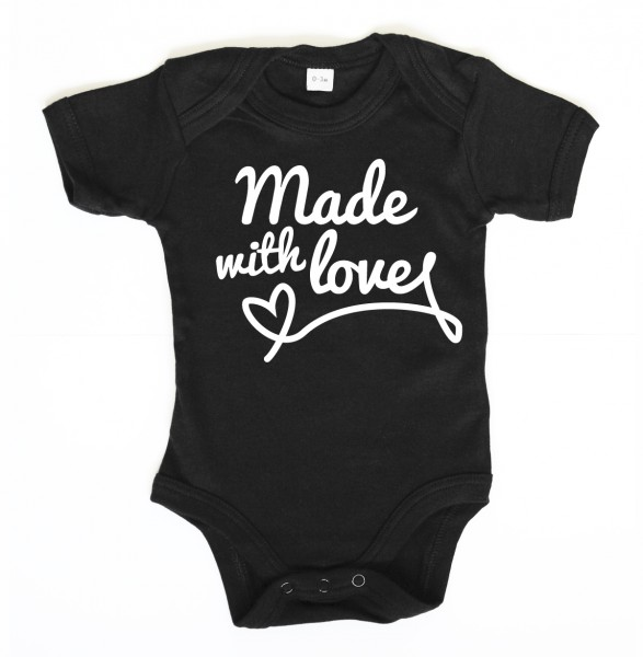 ::: MADE WITH LOVE ::: Grafikdesign Body made with Love ::: Baby Body Jungen