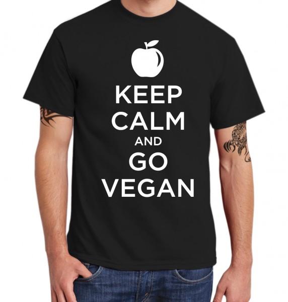 ::: KEEP CALM AND GO VEGAN ::: T-Shirt Herren