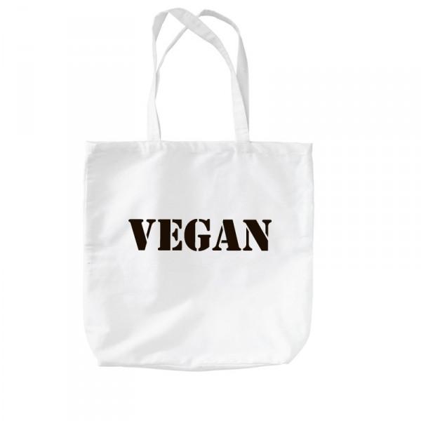 -- Vegan - Motiv 02 -- Baumwolltasche