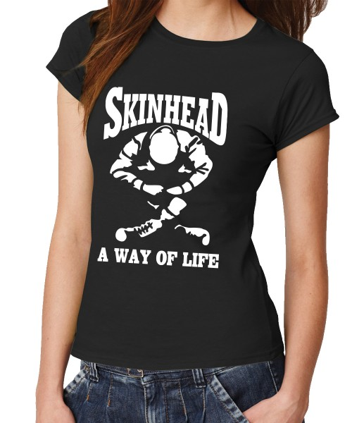 -- Skinhead - a Way of Life -- Girls T-Shirt